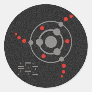 crop circle II   black splatter Classic Round Sticker