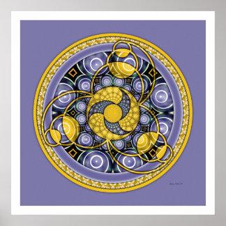 Crop Circle Mandala 5 Poster