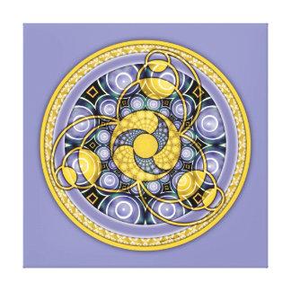 Crop Circle Mandala 5, Wrapped Canvas