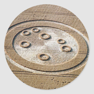 Crop Circle Sisters Of Pleiades Froxfield 1994 Round Sticker