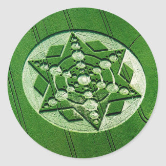 Crop Circle Spinning Star Wiltshire Round Sticker
