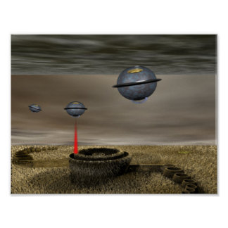 Crop circle UFOS Poster