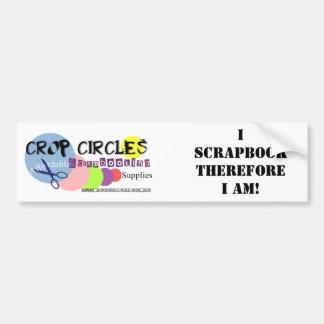Crop-Circles-Logo, I ScrapbookTherefore I am! Car Bumper Sticker