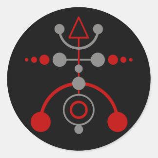 crop cirkle V | black Classic Round Sticker