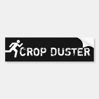 Crop Duster - funny running Bumper Sticker