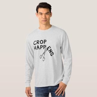 Crop Happens Dark Print T-Shirt