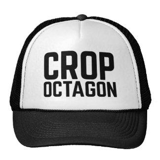 CROP OCTAGON fun slogan trucker hat