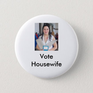 Cropped Izumi, Vote Housewife 2 Inch Round Button
