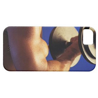 Cropped shot of man lifting weights iPhone 5 cover