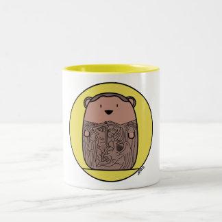 Croquepisco Prison Break Hamster Two-Tone Coffee Mug