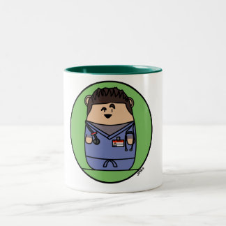 Croquepisco Scrubs Hamster Two-Tone Coffee Mug