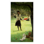 Croquet, c.1878 poster