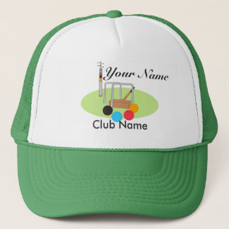 Croquet Club Player Team Trucker Hat