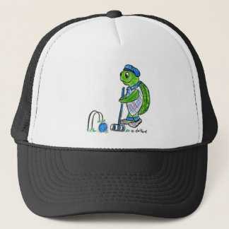 Croquet Turtle Trucker Hat