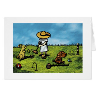 Croquet with Friends Card