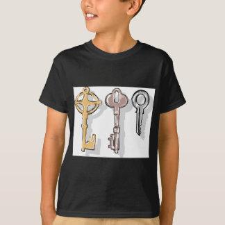 Croquis de trois clés t-shirt