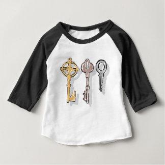 Croquis de trois clés t-shirt pour bébé
