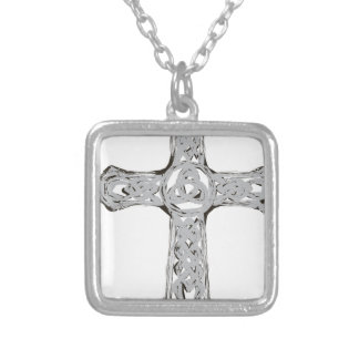 cross12 silver plated necklace