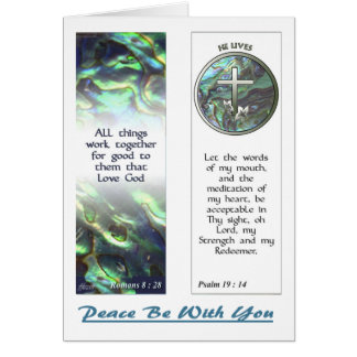 Cross and Abalone Scriptures Bookmarks NoteCard