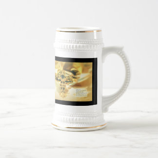 Cross and Bible Quote - Christianity Beer Steins
