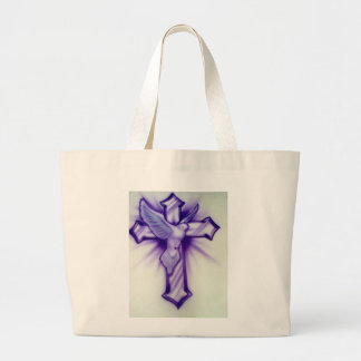 Cross and Dove Large Tote Bag