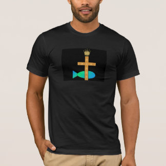 Cross and Fish T-Shirt