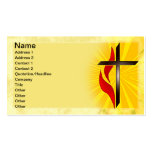Cross and Flame Business Card