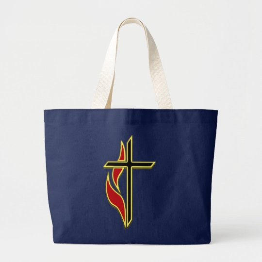 CROSS AND FLAME LARGE TOTE BAG