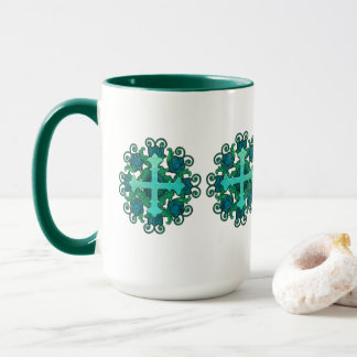Cross and Floral Design on Mug