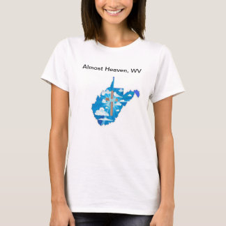 Cross and Heaven on a WV silhouette T-Shirt