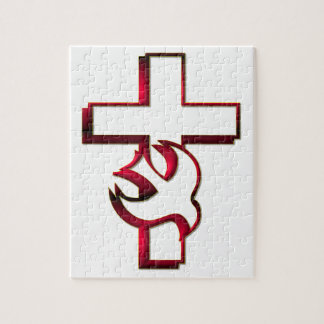 Cross and Holy Spirit / Holy Ghost Jigsaw Puzzle