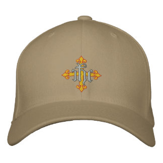 Cross and Jesus' Name Embroidered Hat