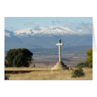 Cross and Mountains Card