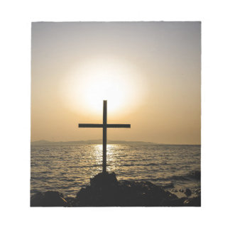Cross and sea notepad