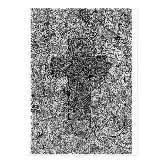 Cross and Symbols Postcard