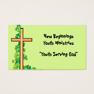 Cross and Vine Christian Business Cards