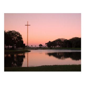 Cross at Nombe de Dios at sunset Postcard