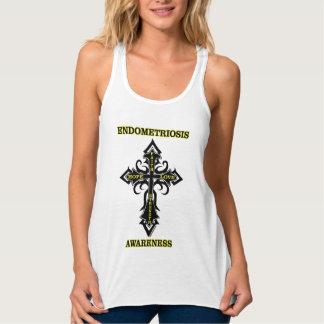 Cross/Awareness...Endometriosis Tank Top