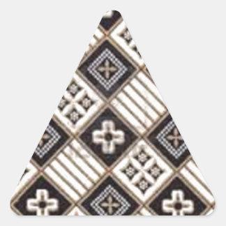 Cross Batik Triangle Stickers