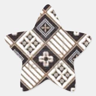 Cross Batik Star Stickers