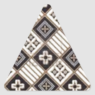 Cross Batik Triangle Sticker