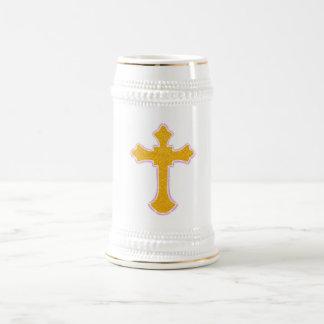 Cross Beer Stein