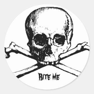 CROSS, Bite me Classic Round Sticker