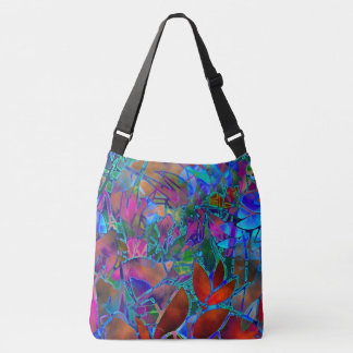 Cross Body Bag Floral Abstract Stained Glass
