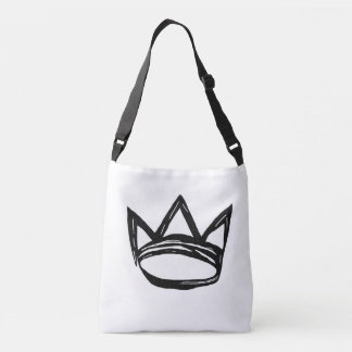 Cross body bag with crown
