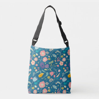 Cross body Bag with Flowers