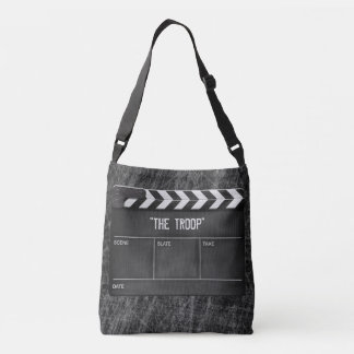 Cross body clapperboard/slate bag with your title