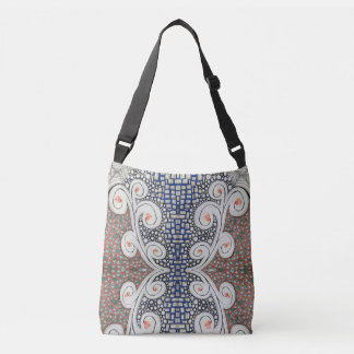 Cross-body Tote Bag, Original Art.