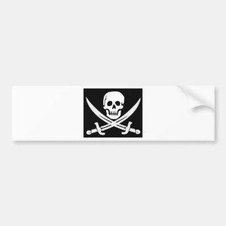 Cross Bones Flag Pirate Skull Bumper Sticker