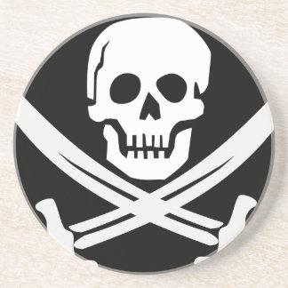 Cross Bones Flag Pirate Skull Coaster